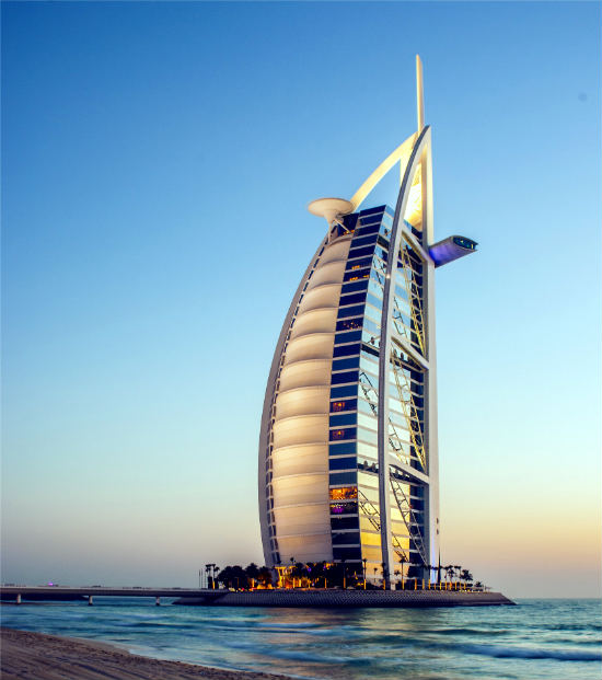 Dubai Stopover im Burj Al Arab Hotel in Dubai, Vereinigte Arabische Emirate