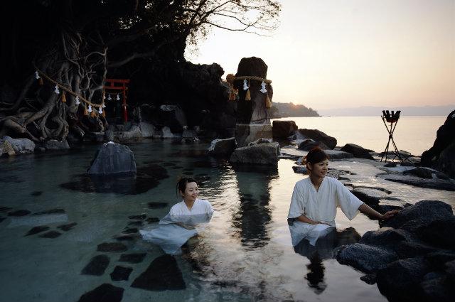 Japans Wellness in heißen Quellen