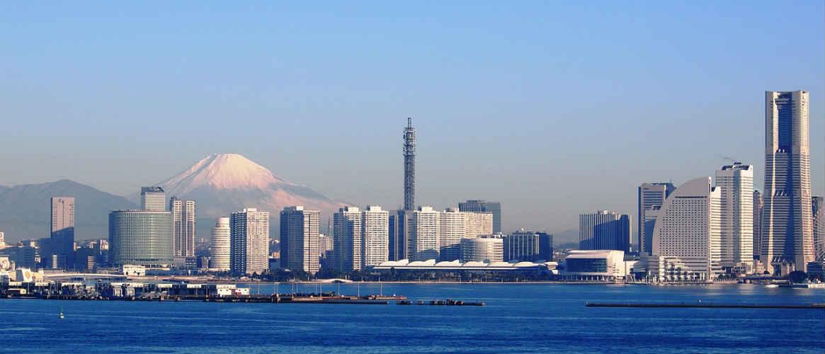 Yokohama Skyline und Architektur