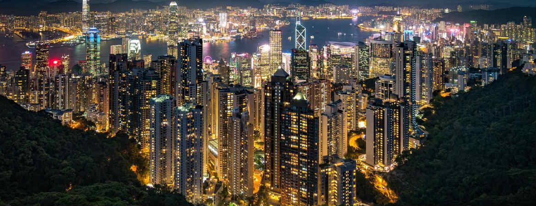 Hong Kong Städtereise Panorama