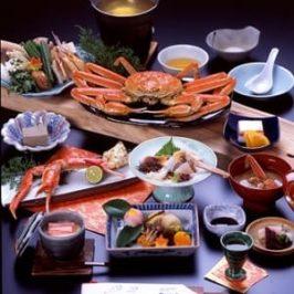 Abendessen mit Japans Riesenkrabben