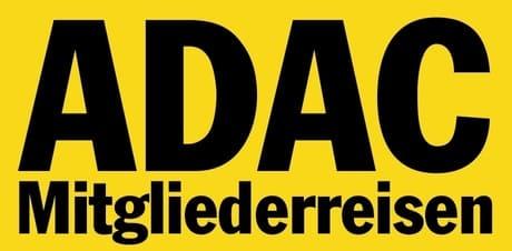 ADAC Logo gelb mit schwarzer Schrift Münchina Gruppenreisen Kundenstimmen