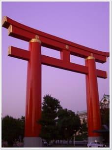 Kioto Zentrum grosses Tori zum
